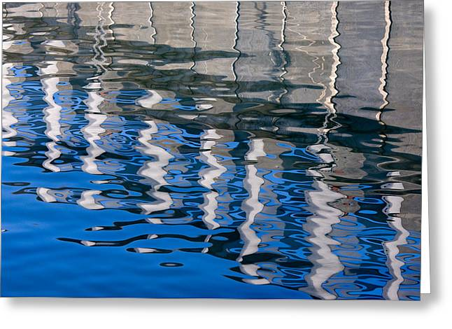 Half Moon Bay Greeting Cards - Pier Reflected Greeting Card by CJ Middendorf