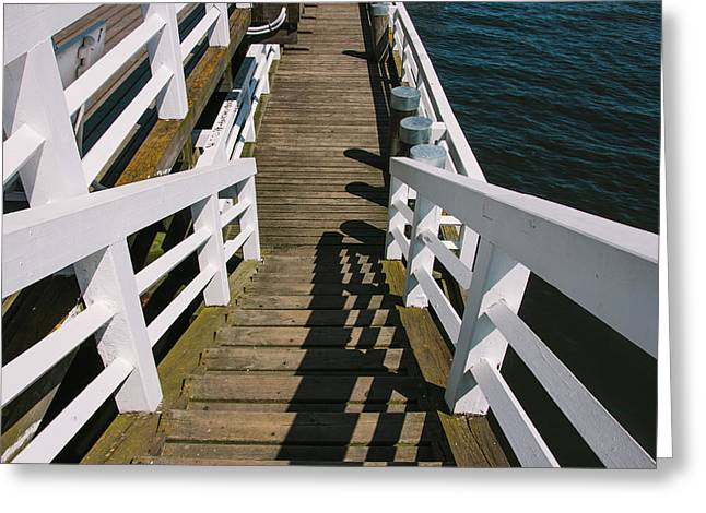 Pier Stairs Greeting Card by Pati Photography
