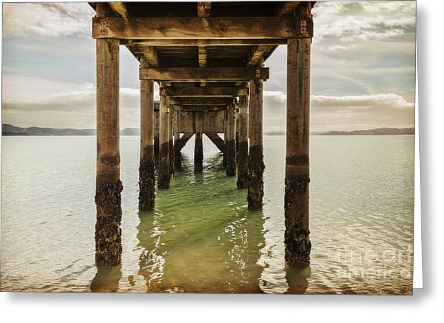Backlit Greeting Cards - Pier Under Greeting Card by Colin and Linda McKie