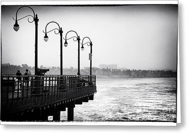 Pacific Ocean Prints Greeting Cards - Pier View Greeting Card by John Rizzuto