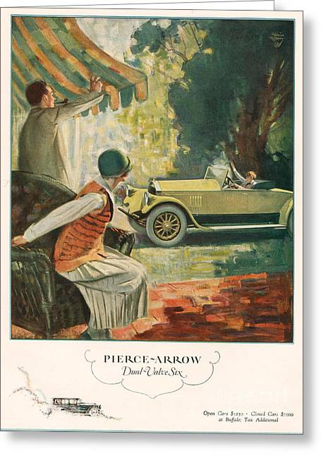 American Automobiles Greeting Cards - Pierce Arrow 1925 1920s Usa Cc Cars Greeting Card by The Advertising Archives