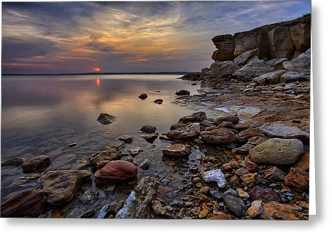 Pebbles Greeting Cards - Piercing Calm Greeting Card by Thomas Zimmerman