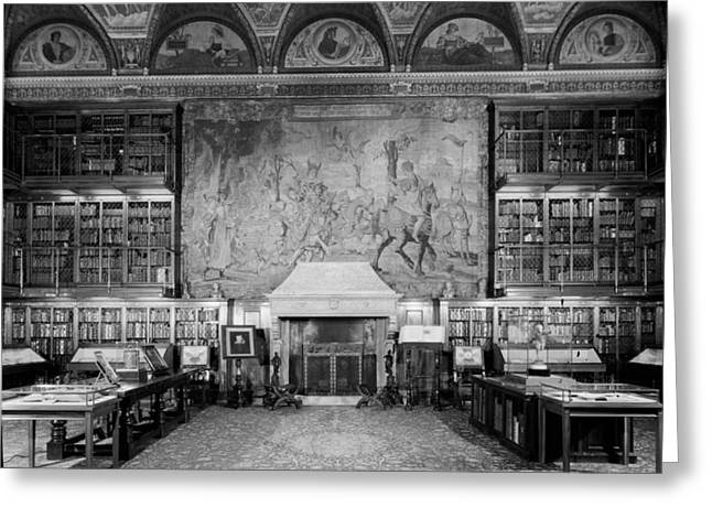 Rare Books Greeting Cards - Pierpont Morgan Library - NYC 1963 Greeting Card by Mountain Dreams
