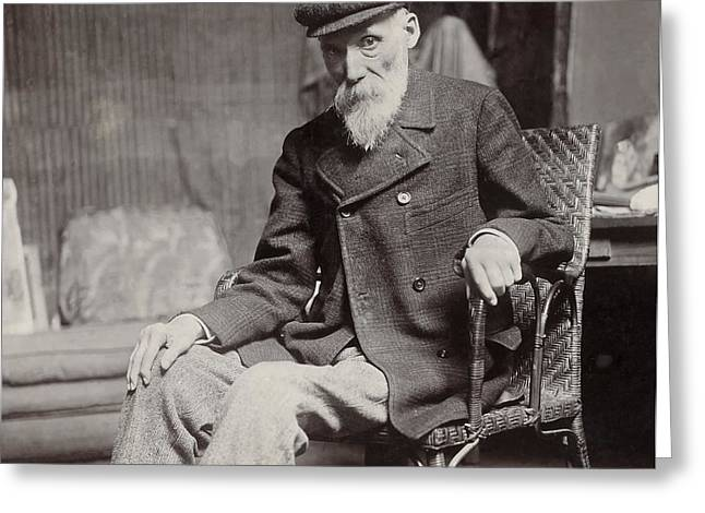 Renoir Photographs Greeting Cards - Pierre Auguste Renoir in 1910 Greeting Card by Mountain Dreams