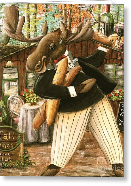 Recently Sold -  - Red Wine Prints Greeting Cards - Pierre Greeting Card by Debbie Cerone