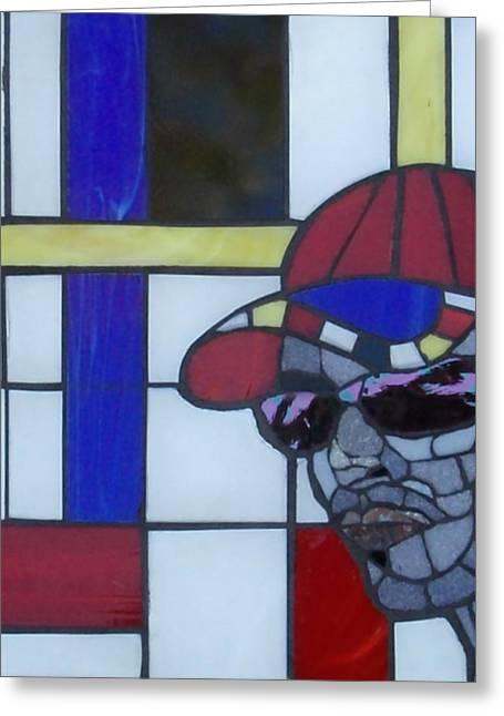 Male Glass Art Greeting Cards - Art Inspires Art Inspired Art  Greeting Card by Gila Rayberg