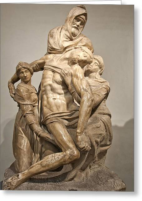 Masters Photographs Greeting Cards - Pieta by Michelangelo Greeting Card by Melany Sarafis