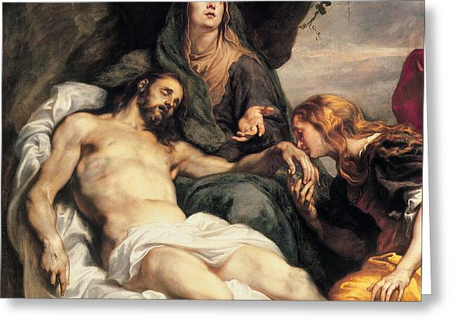 Pieta, Circa 1629 Greeting Card by Sir Anthony van Dyck