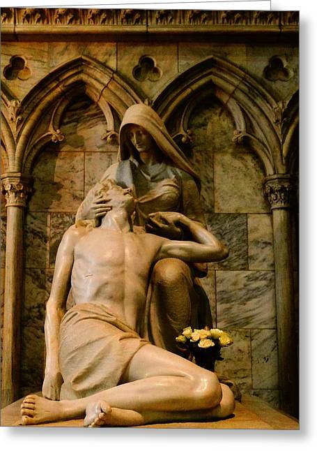 Forgiven Greeting Cards - Pieta Greeting Card by Dan Sproul