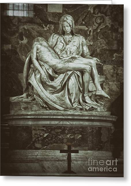 Buonarroti Photographs Greeting Cards - Pieta Greeting Card by James Neiss