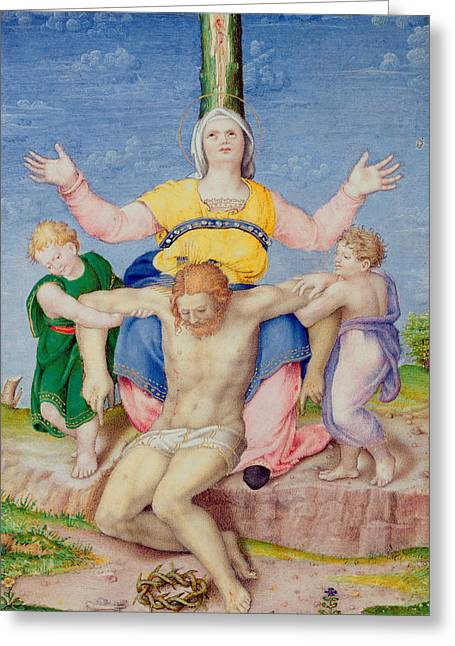 Gospel Greeting Cards - Pieta Greeting Card by Michelangelo