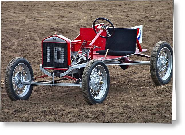 Recently Sold -  - Ford Model T Car Greeting Cards - Pig N Ford Race Car Greeting Card by Joan Rankin Hayes