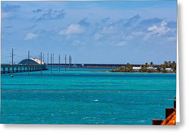 Overseas Railway Greeting Cards - Pigeon Key and the Overseas Highway. Greeting Card by John Bailey
