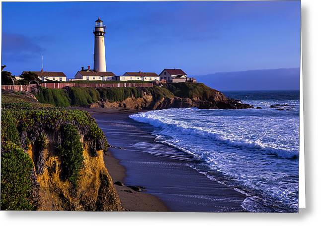 Pigeon Point Light Station Greeting Cards - Pigeon Point Landscape Greeting Card by Garry Gay