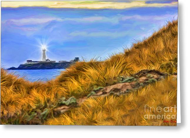 Pigeon Point Light Station Greeting Cards - Pigeon Point Light Station  Greeting Card by Blake Richards