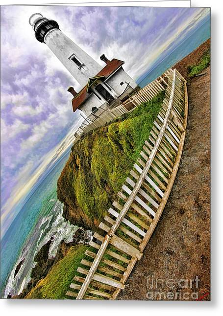 Pigeon Point Light Station Greeting Cards - Pigeon Point Light Station State Historic Park Greeting Card by Blake Richards