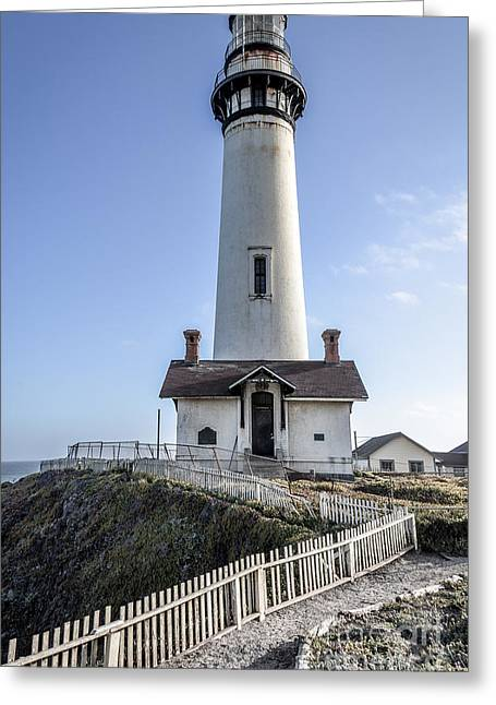 Ano Nuevo Greeting Cards - Pigeon Point Lighthouse Greeting Card by Amy Fearn