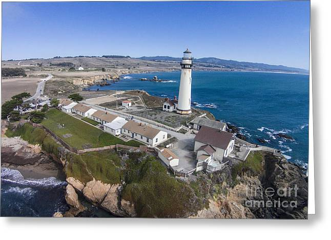 Pescadero Greeting Cards - Pigeon Point Lighthouse Greeting Card by David Levy