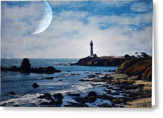 Big Sur California Greeting Cards - Pigeon point lighthouse Greeting Card by Elena Nosyreva