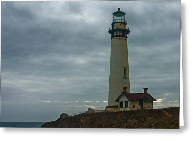 Pch Greeting Cards - Pigeon Point Lighthouse Greeting Card by Gayla Worrell