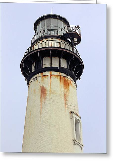 Half Moon Bay Greeting Cards - Pigeon Point Lighthouse Head Greeting Card by Viktor Savchenko