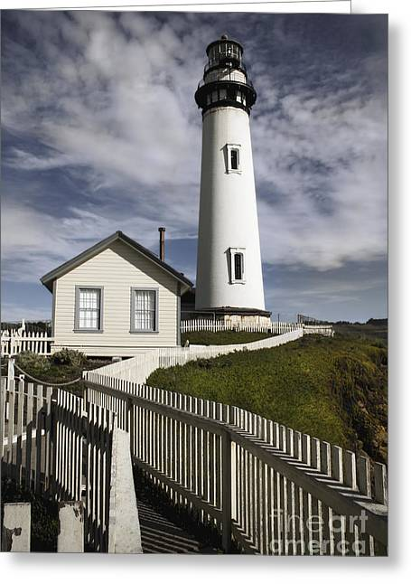 Santa Cruz Art Greeting Cards - Pigeon Point Lighthouse II Greeting Card by Jennifer Ramirez