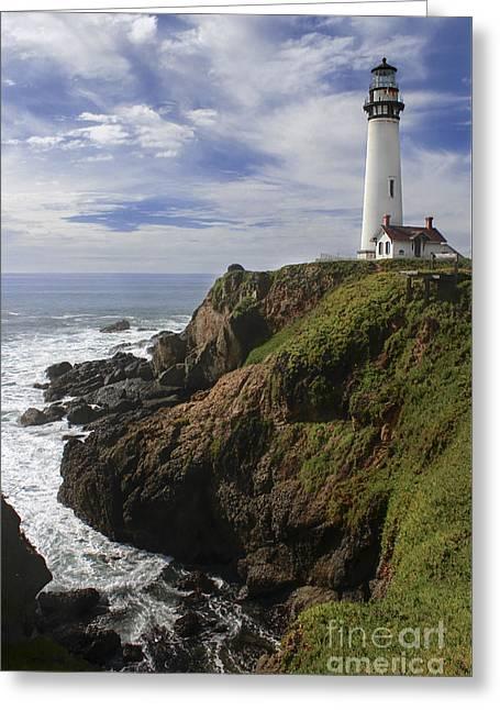 Beautiful Scenery Greeting Cards - Pigeon Point Lighthouse III Greeting Card by Jennifer Ramirez