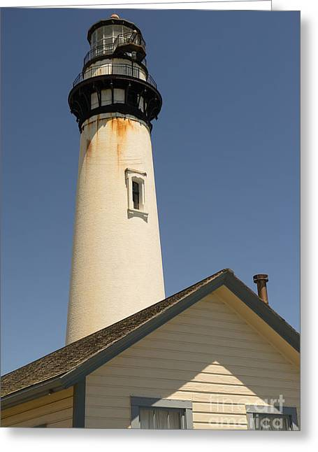 Ocean Vista Greeting Cards - Pigeon Point Lighthouse in the Coast of California DSC1294 Greeting Card by Wingsdomain Art and Photography