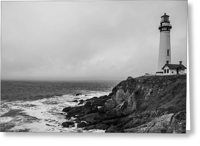 Pigeon Point Light Station Greeting Cards - Pigeon Point Lighthouse Greeting Card by Ralf Kaiser