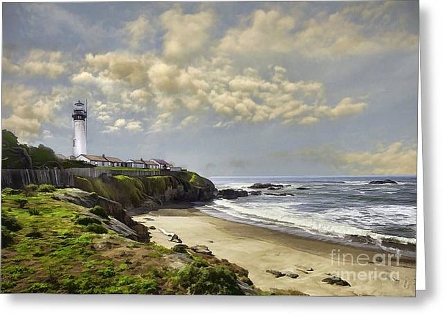 Pigeon Point Lighthouse Greeting Cards - Pigeon Point Lighthouse Greeting Card by Sharon Foster
