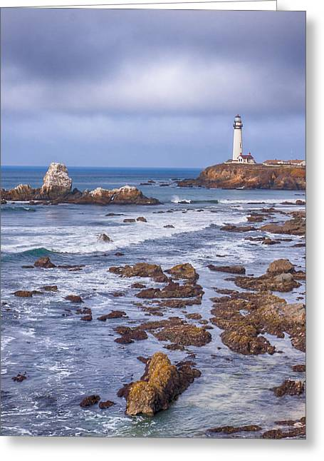 Pigeon Point Light Station Greeting Cards - Pigeon Point  Greeting Card by Harold Rau
