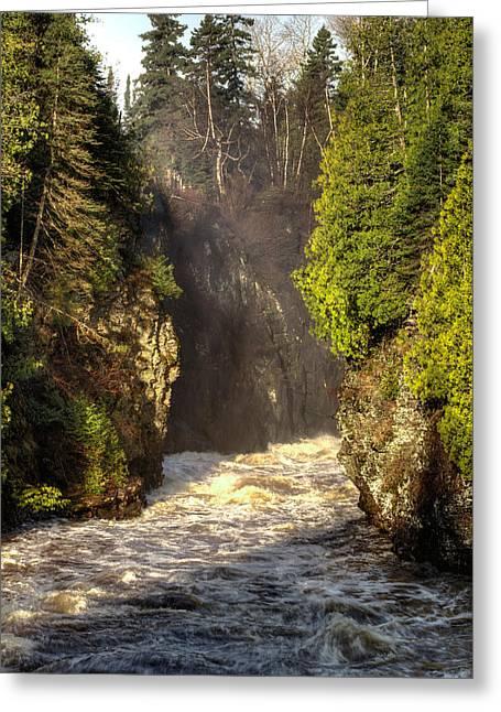 40mm Greeting Cards - Pigeon River below High Falls Greeting Card by Jakub Sisak