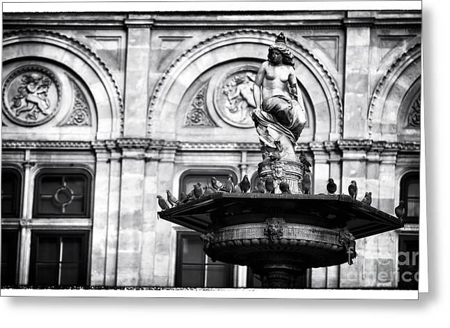 Nudes Sculptures Greeting Cards - Pigeons at the Opera House Greeting Card by John Rizzuto
