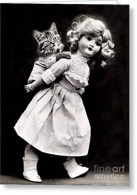 Toll House Greeting Cards - Piggyback 1914 Greeting Card by Science Source