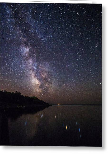Light Pollution Greeting Cards - Pike Haven Greeting Card by Aaron J Groen