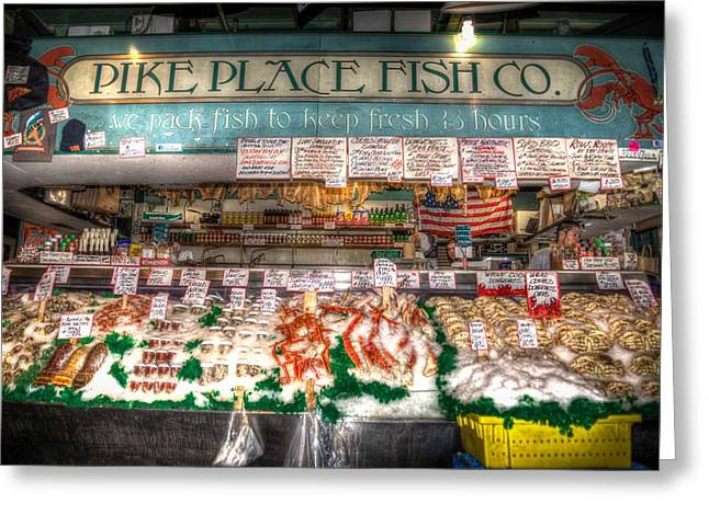 Flying Fish Greeting Cards - Pike Place Fish Company II Greeting Card by Spencer McDonald
