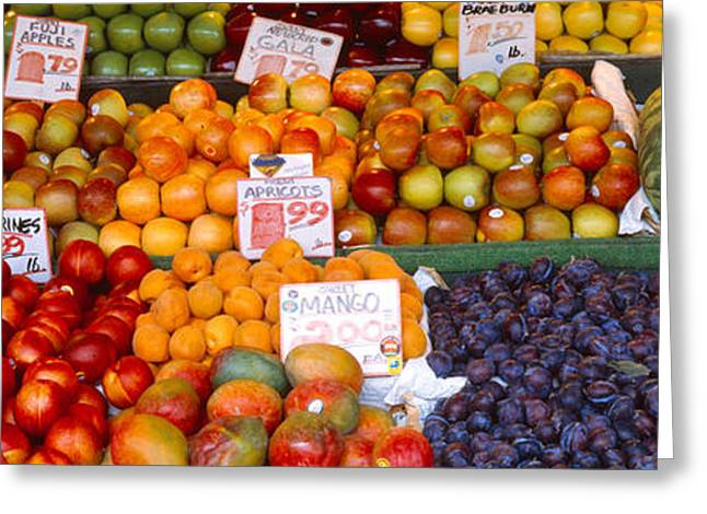Purchase Greeting Cards - Pike Place Market Seattle Wa Usa Greeting Card by Panoramic Images