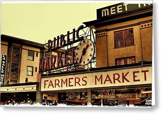 Pike Place Market - Seattle Washington Greeting Card by David Patterson