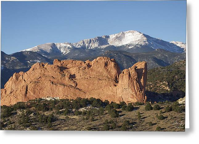 Rocky In Spring Greeting Cards - Pikes Peak 3 Greeting Card by Aaron Spong