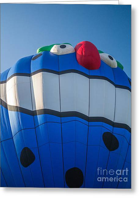 Hot Air Greeting Cards - PIKO the Hot Air Balloon Greeting Card by Edward Fielding