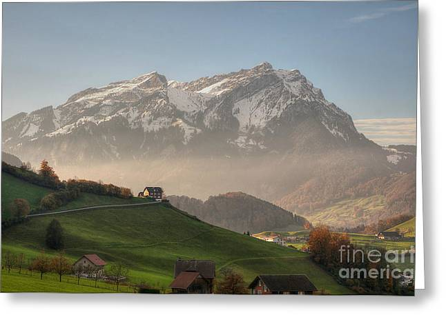 Caroline Pirskanen Greeting Cards - Pilatus Greeting Card by Caroline Pirskanen
