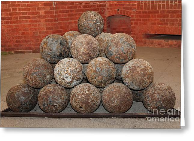 Armory Greeting Cards - Pile of Cannon at San Francisco Fort Point 5D21493 Greeting Card by Wingsdomain Art and Photography