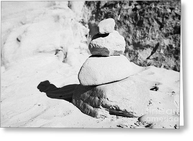 Significance Greeting Cards - Pile Of Sandstones On Sand In The Desert Nevada Usa Greeting Card by Joe Fox
