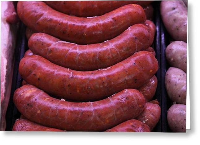 Pile of Sausages - 5D20694 Greeting Card by Wingsdomain Art and Photography