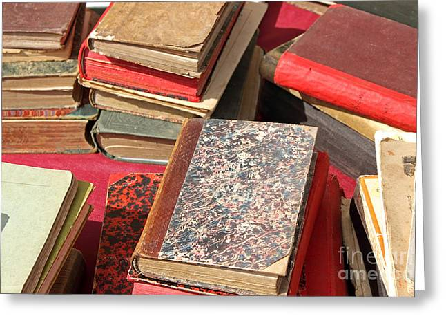 Publication Greeting Cards - Piles of old books Greeting Card by Kiril Stanchev