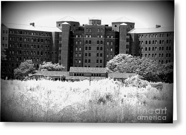 Pilgrim State Psychiatric Hospital Greeting Card by Ed Weidman