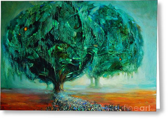 Bible Paintings Greeting Cards - Pilgrimage Greeting Card by Michal Kwarciak