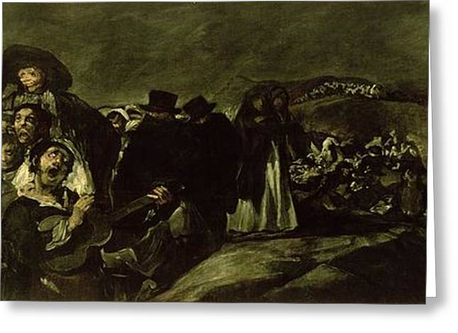 Fatigues Greeting Cards - Pilgrimage To San Isidros Fountain, C.18213 Oil On Canvas Greeting Card by Francisco Jose de Goya y Lucientes