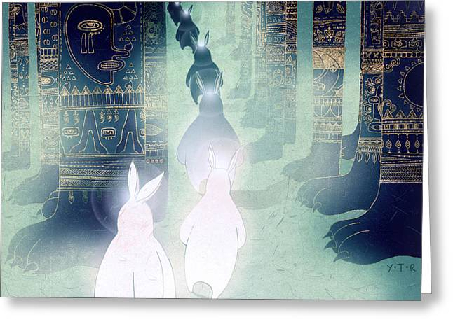 Religious Digital Art Greeting Cards - Pilgrimage Greeting Card by Yoyo Zhao