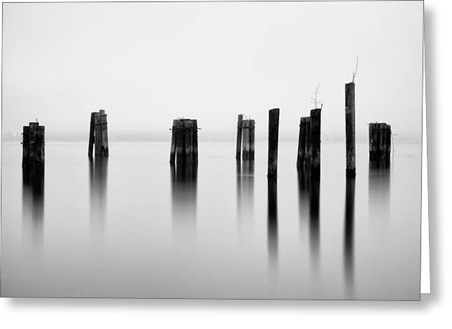Commencement Bay Greeting Cards - Pilings - Puget Sound - Tacoma - Washington - January 2014 Greeting Card by Steve G Bisig